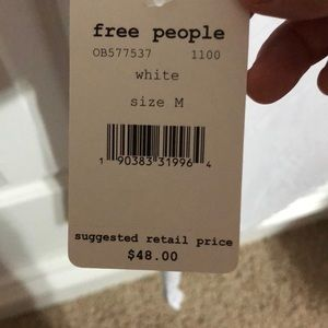 Free People Tops - NWT Free People White Tank